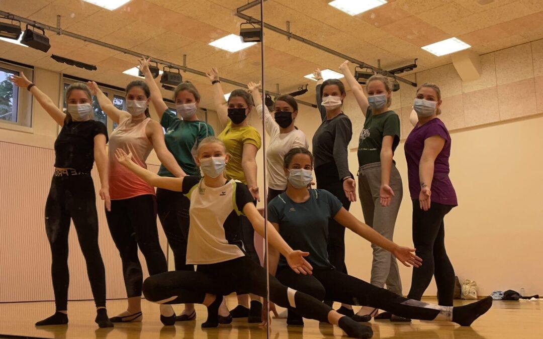 Foto aus dem Training der Aktiven 2, mit Maske